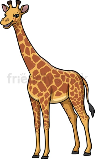 Happy giraffe. PNG - JPG and vector EPS (infinitely scalable).