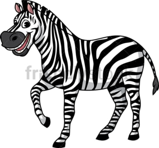 Happy zebra. PNG - JPG and vector EPS (infinitely scalable).