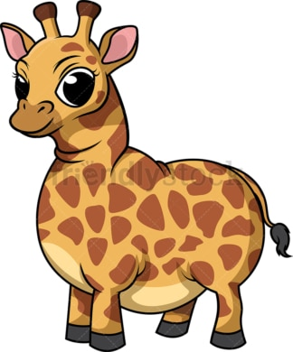 Fat giraffe. PNG - JPG and vector EPS (infinitely scalable).
