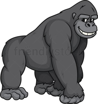 Gorilla smiling. PNG - JPG and vector EPS (infinitely scalable).