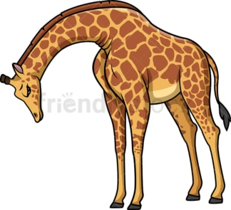 Sad giraffe. PNG - JPG and vector EPS (infinitely scalable).