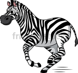 Zebra running. PNG - JPG and vector EPS (infinitely scalable).
