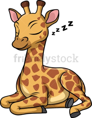 Giraffe sleeping. PNG - JPG and vector EPS (infinitely scalable).