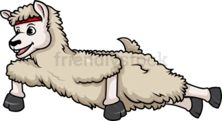 Llama doing push ups. PNG - JPG and vector EPS (infinitely scalable).