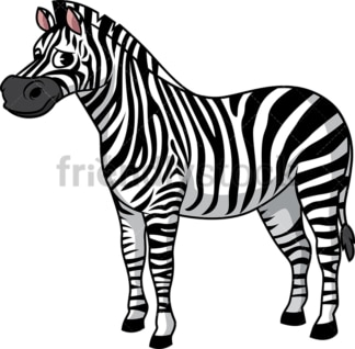 Sad zebra. PNG - JPG and vector EPS (infinitely scalable).