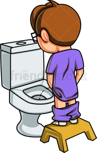 Little boy peeing. PNG - JPG and vector EPS file formats (infinitely scalable). Image isolated on transparent background.