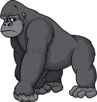 Sad gorilla. PNG - JPG and vector EPS (infinitely scalable).