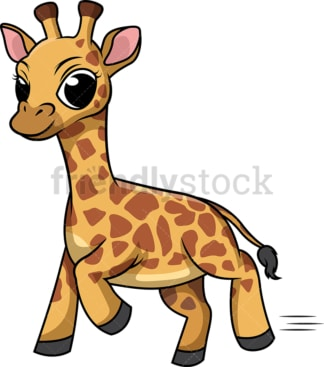 Giraffe running. PNG - JPG and vector EPS (infinitely scalable).