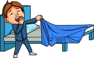 Little boy going to bed. PNG - JPG and vector EPS file formats (infinitely scalable). Image isolated on transparent background.