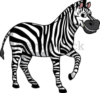 Zebra smiling. PNG - JPG and vector EPS (infinitely scalable).