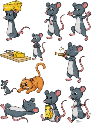 Mouse mascot. PNG - JPG and vector EPS file formats (infinitely scalable).