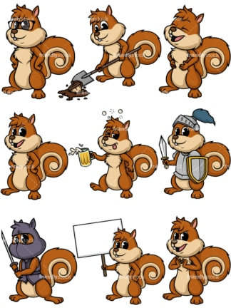 Squirrel mascot. PNG - JPG and vector EPS file formats (infinitely scalable).