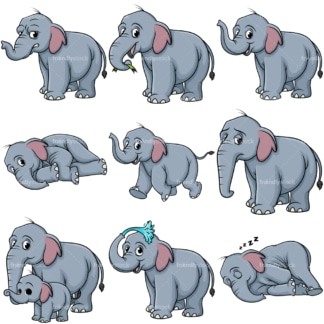 Wild elephant. PNG - JPG and vector EPS file formats (infinitely scalable).