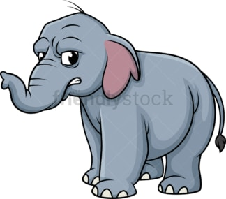 Angry elephant. PNG - JPG and vector EPS (infinitely scalable).