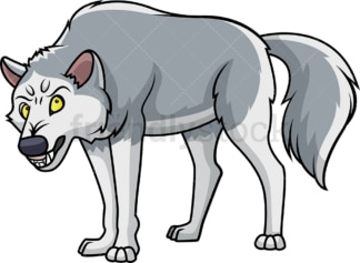 Angry wolf. PNG - JPG and vector EPS (infinitely scalable).