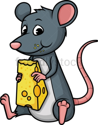 Mouse eating cheese. PNG - JPG and vector EPS (infinitely scalable).