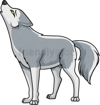 Howling wolf. PNG - JPG and vector EPS (infinitely scalable).