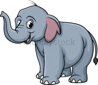 Smiling elephant. PNG - JPG and vector EPS (infinitely scalable).