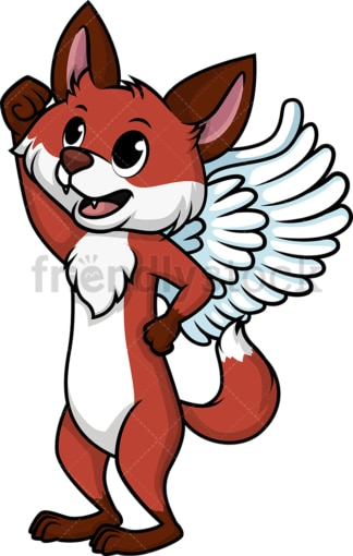 Winged fox. PNG - JPG and vector EPS (infinitely scalable).