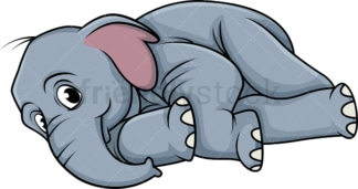 Elephant rolling around. PNG - JPG and vector EPS (infinitely scalable).