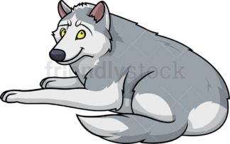 Wolf laying down. PNG - JPG and vector EPS (infinitely scalable).