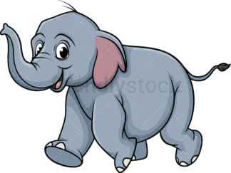 Running elephant. PNG - JPG and vector EPS (infinitely scalable).