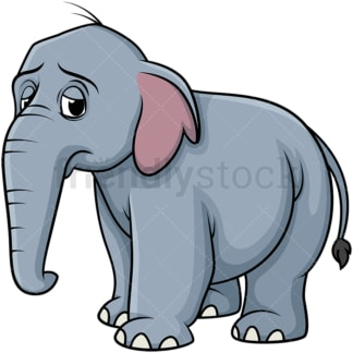 Sad elephant. PNG - JPG and vector EPS (infinitely scalable).