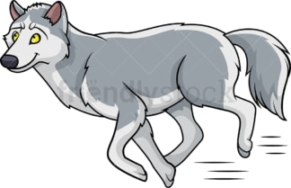 Wolf running. PNG - JPG and vector EPS (infinitely scalable).