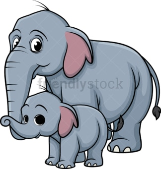 Elephant family. PNG - JPG and vector EPS (infinitely scalable).