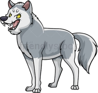 Scary wolf. PNG - JPG and vector EPS (infinitely scalable).