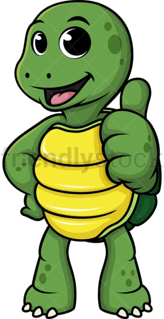 Turtle thumbs up. PNG - JPG and vector EPS (infinitely scalable).