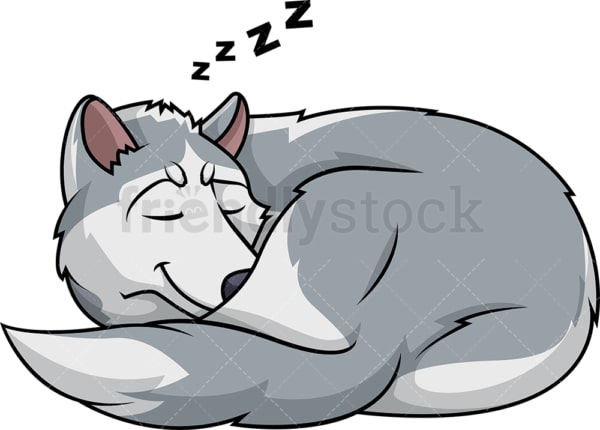 Sleeping wolf. PNG - JPG and vector EPS (infinitely scalable).