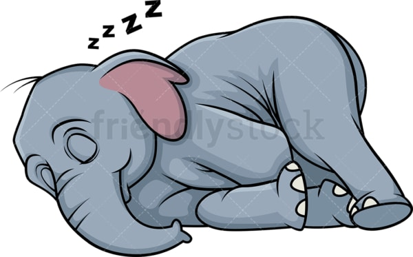 Sleeping elephant. PNG - JPG and vector EPS (infinitely scalable).