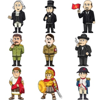 Historical figures. PNG - JPG and vector EPS file formats (infinitely scalable).