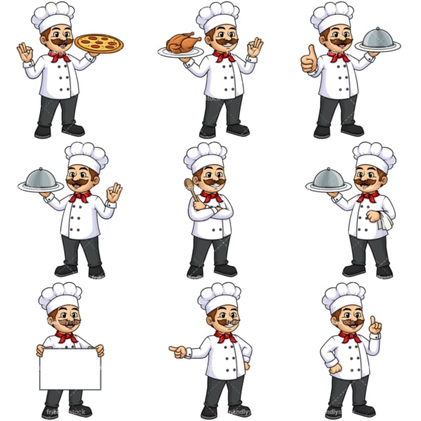 Male chef. PNG - JPG and vector EPS file formats (infinitely scalable).