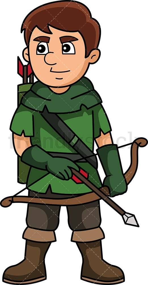 Medieval archer. PNG - JPG and vector EPS (infinitely scalable).