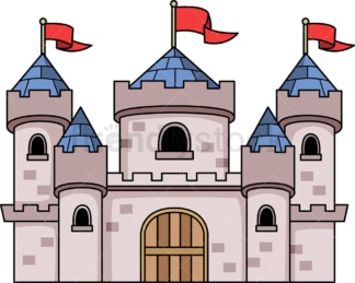 Medieval castle. PNG - JPG and vector EPS (infinitely scalable).