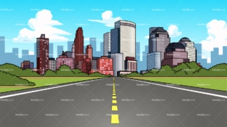 City highway background in 16:9 aspect ratio. PNG - JPG and vector EPS file formats (infinitely scalable).
