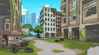 Abandoned city background in 16:9 aspect ratio. PNG - JPG and vector EPS file formats (infinitely scalable).
