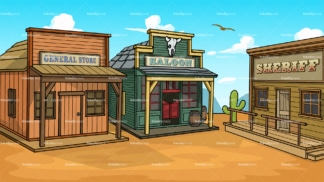 Wild west town background in 16:9 aspect ratio. PNG - JPG and vector EPS file formats (infinitely scalable).