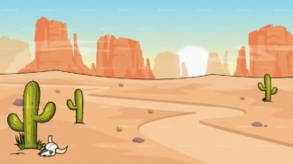 Wild west desert background in 16:9 aspect ratio. PNG - JPG and vector EPS file formats (infinitely scalable).