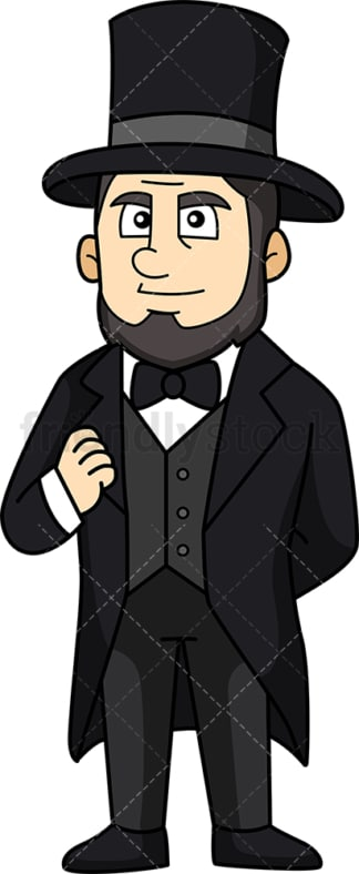 Abraham Lincoln. PNG - JPG and vector EPS (infinitely scalable).