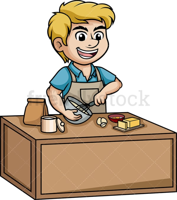 Man making a cake. PNG - JPG and vector EPS (infinitely scalable).