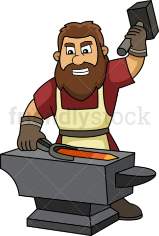 Medieval blacksmith. PNG - JPG and vector EPS (infinitely scalable).