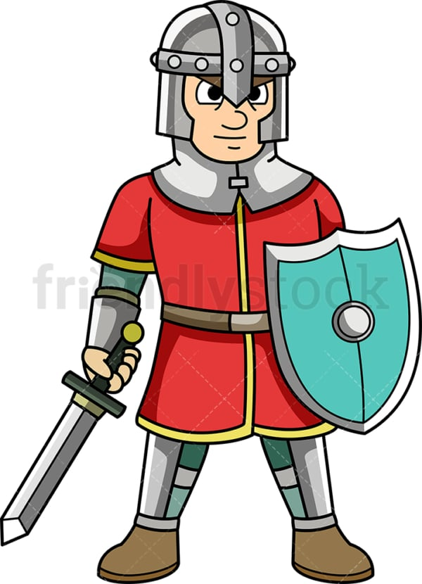 Medieval soldier. PNG - JPG and vector EPS (infinitely scalable).