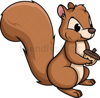 Squirrel eating a nut. PNG - JPG and vector EPS (infinitely scalable).