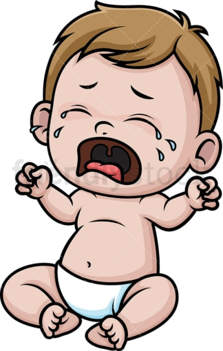 Crying baby. PNG - JPG and vector EPS (infinitely scalable).
