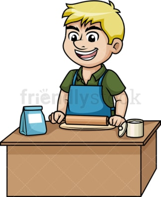 Man making pizza dough. PNG - JPG and vector EPS (infinitely scalable). Image isolated on transparent background.