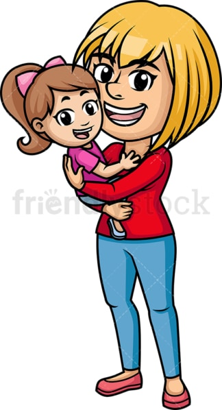 Mom hugging her child. PNG - JPG and vector EPS (infinitely scalable). Image isolated on transparent background.