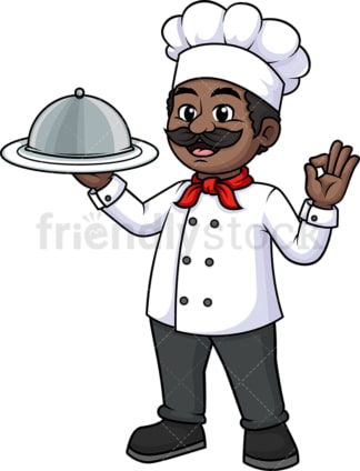 Black chef plate cloche dome tray. PNG - JPG and vector EPS (infinitely scalable).